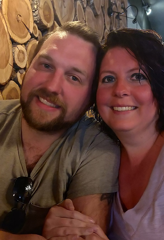 Evan, Owner of Purple Willow Consulting, LLC. and wife, and Tiffany Raeburn